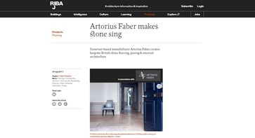 RIBA J Product News - Artorius Faber