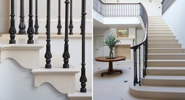 For a touch of tradition you really can't beat a sweeping solid stone cantilevered staircase.